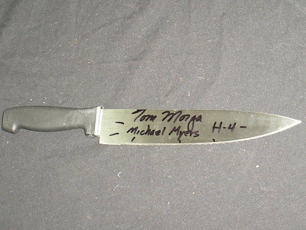 TOM MORGA Signed Steel Chef Knife Michael Myers Halloween 4 Autograph - HorrorAutographs.com