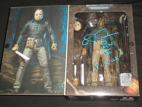 CJ GRAHAM Signed Jason Voorhees Part 6 NECA FIGURE Autograph Friday the 13th A - HorrorAutographs.com