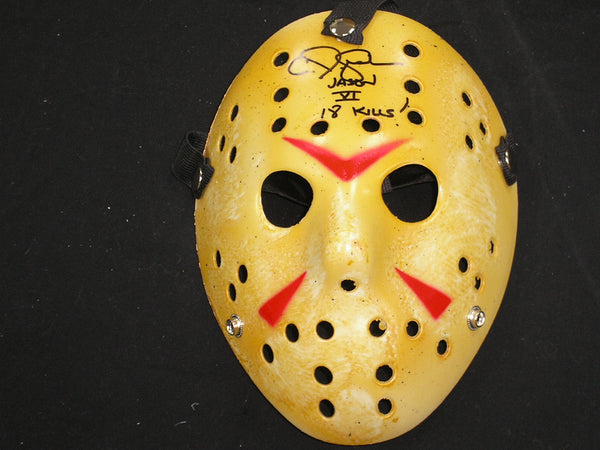 CJ GRAHAM Signed 18 KILLS Hockey MASK Jason Voorhees Friday the 13th Part 6 - HorrorAutographs.com