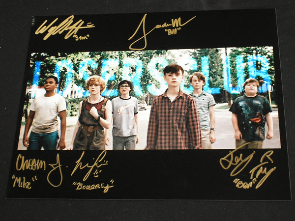 IT Kids Losers Club Cast 5X Signed 10x13 IT (2017) Photo Autograph Sophia Jaeden Chosen Jeremy Ray Wyatt