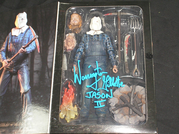 WARRINGTON GILLETTE Signed Jason Voorhees Part 2 NECA FIGURE Autograph Friday the 13th