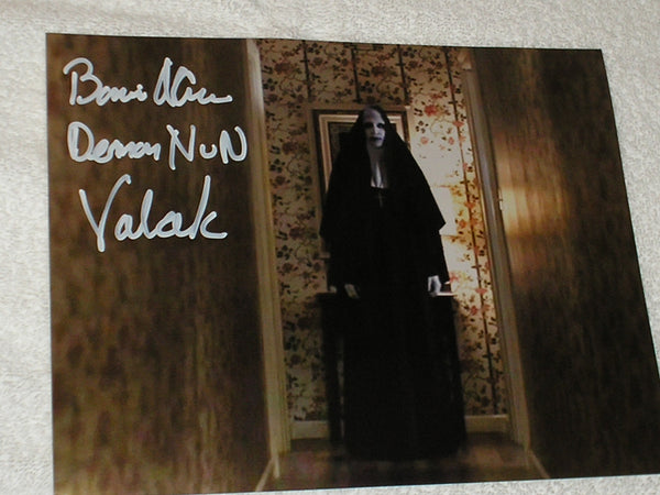 BONNIE AARONS Signed 8x10 Photo THE NUN Conjuring 2 Autograph Signing Pic B