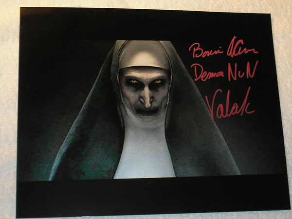 BONNIE AARONS Signed 8x10 Photo THE NUN Conjuring 2 Autograph Signing Pic E - HorrorAutographs.com