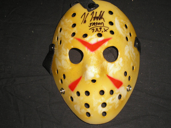 KANE HODDER Signed Hockey Mask Autograph Jason Voorhees Friday the 13th - HorrorAutographs.com