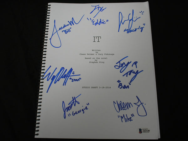 IT Kids Cast 7 Signed IT (2017) SCRIPT Autograph BAS BECKETT COA RARE - HorrorAutographs.com
