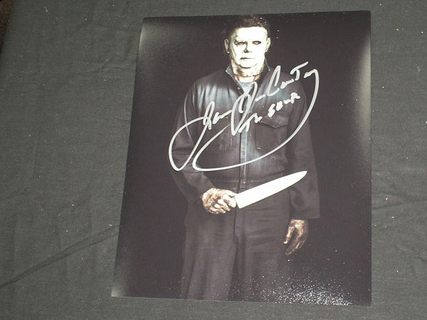 JAMES JUDE COURTNEY Signed Michael Myers 8x10 Photo THE SHAPE HALLOWEEN 2018 BECKETT BAS COA  B - HorrorAutographs.com