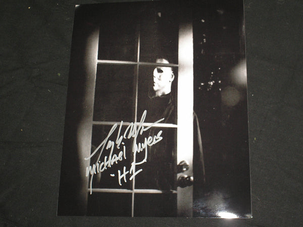 TONY MORAN Signed MICHAEL MYERS 8x10 Photo HALLOWEEN Autograph B