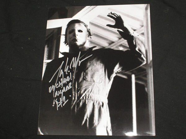 TONY MORAN Signed Michael Myers 8x10 Photo HALLOWEEN Autograph D