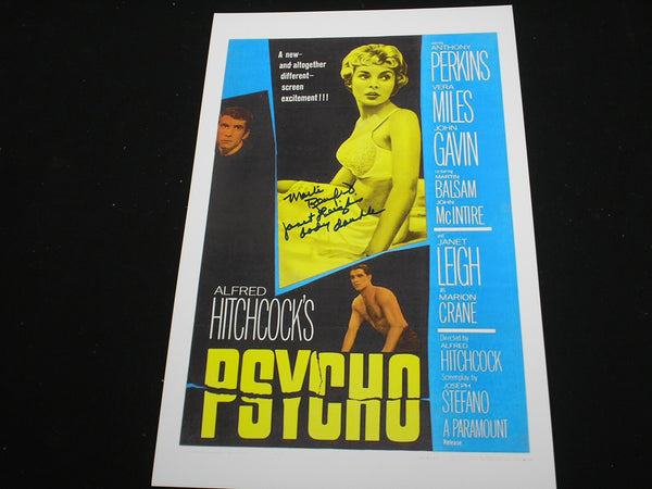 MARLI RENFRO Signed PSYCHO 11x17 Movie Poster Janet Leigh Body Double in Autograph RARE - HorrorAutographs.com