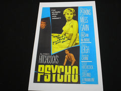 MARLI RENFRO Signed PSYCHO 11x17 Movie Poster Janet Leigh Body Double in Autograph RARE