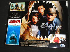 RICHARD DREYFUSS Signed JAWS 10x13 Metallic Photo Hooper Autograph Beckett BAS COA F