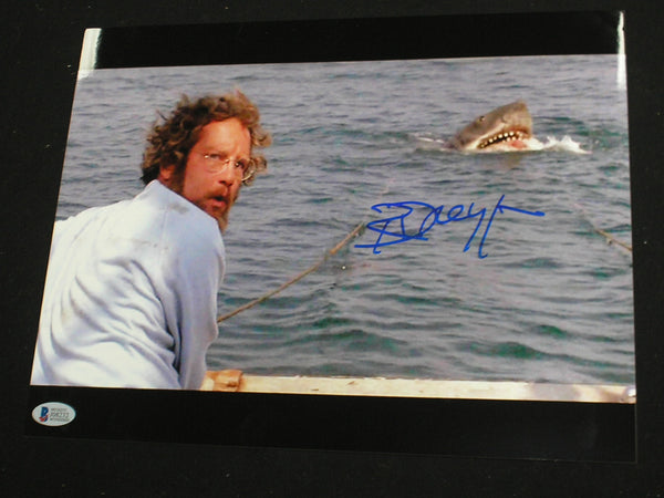 RICHARD DREYFUSS Signed JAWS 10x13 Metallic Photo Hooper Autograph Beckett BAS COA E - HorrorAutographs.com