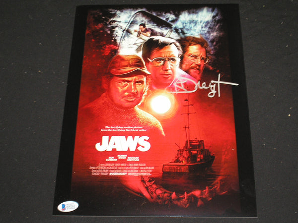 RICHARD DREYFUSS Signed JAWS 10x13 Metallic Photo Hooper Autograph Beckett BAS COA B - HorrorAutographs.com