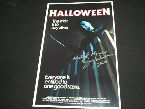 JIM WINBURN Michael Myers Signed HALLOWEEN 11x17 POSTER Autograph A