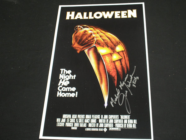 JIM WINBURN Michael Myers Signed HALLOWEEN 11x17 POSTER Autograph B