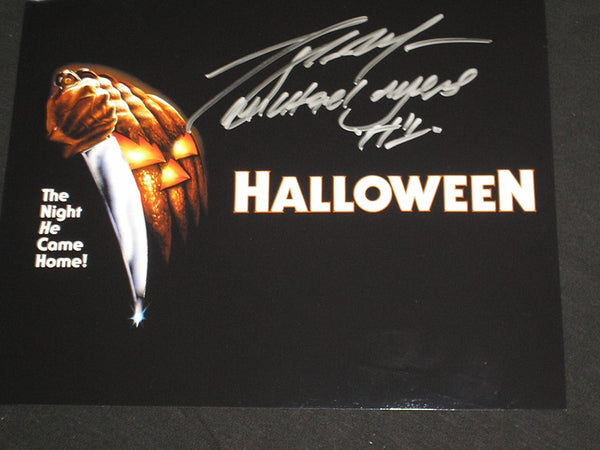 TONY MORAN Signed Michael Myers 8x10 Photo HALLOWEEN Autograph P
