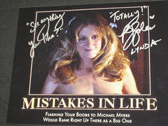 "PJ SOLES Signed HALLOWEEN 8x10 Photo LYNDA Autograph ""MISTAKES in LIFE"""