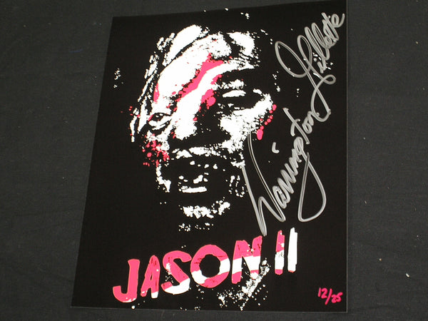 WARRINGTON GILLETTE Signed Jason 8X10 Art Photo #/25 FRIDAY THE 13TH Part 2 - HorrorAutographs.com