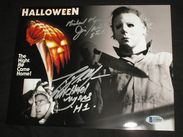 TONY MORAN & JIM WINBURN Signed HALLOWEEN 8x10 Photo MICHAEL MYERS BECKETT BAS COA - HorrorAutographs.com