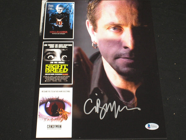 CLIVE BARKER Signed Career Custom Metallic 10x13 Photo Autograph Beckett BAS COA B
