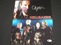 CLIVE BARKER Signed Hellraiser Custom Metallic 10x13 Photo Autograph Beckett BAS COA