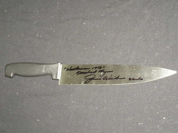 JIM WINBURN Signed Steel Chef Knife Michael Myers 1978 Halloween Autograph RARE - HorrorAutographs.com