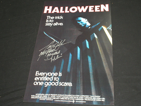 TONY MORAN Signed 11x17 Movie Poster HALLOWEEN Michael Myers Autograph A - HorrorAutographs.com