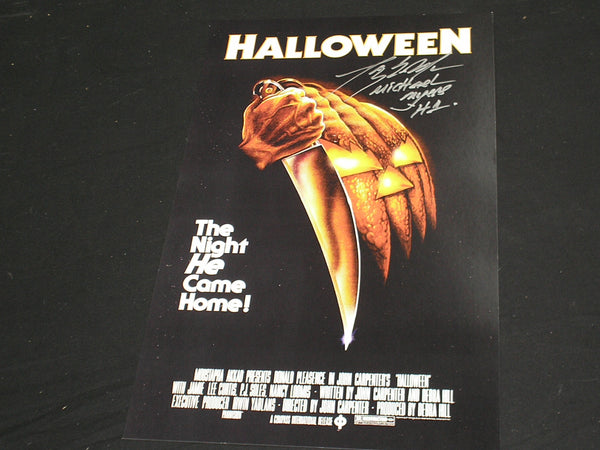 TONY MORAN Signed 11x17 Movie Poster HALLOWEEN Michael Myers Autograph B - HorrorAutographs.com