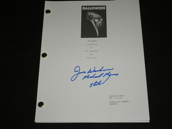 JIM WINBURN Signed HALLOWEEN SCRIPT MICHAEL MYERS Autograph RARE - HorrorAutographs.com