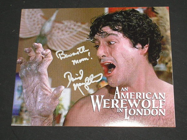 DAVID NAUGHTON Signed 8x10 Photo American Werewolf in London Autograph B - HorrorAutographs.com