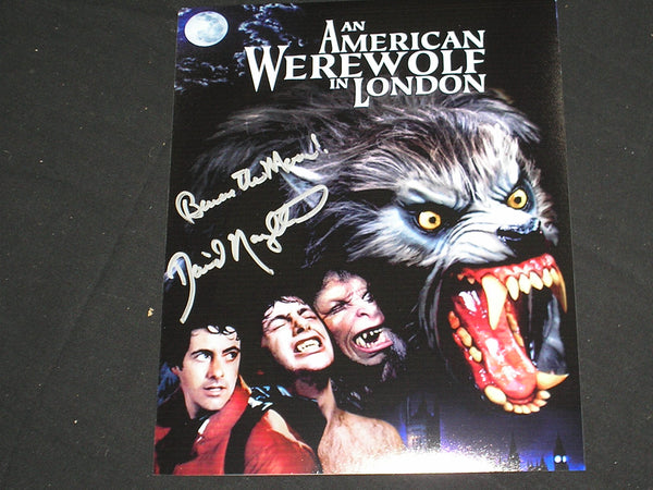 DAVID NAUGHTON Signed 8x10 PHOTO American Werewolf in London Autograph C - HorrorAutographs.com