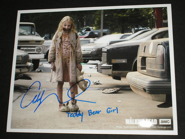 ADDY MILLER Signed 8x10 Photo Summer Teddy Bear Girl The Walking Dead Autograph A