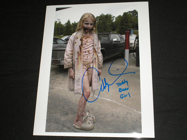 ADDY MILLER Signed 8x10 Photo Summer Teddy Bear Girl The Walking Dead Autograph B