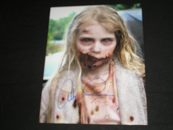 Addy Miller Signed 8x10 Photo Summer Teddy Bear Girl The Walking Dead Autograph C - HorrorAutographs.com