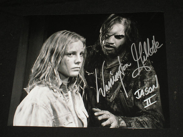 WARRINGTON GILLETTE Signed Jason Voorhees 8X10 Photo Autograph FRIDAY THE 13TH Part 2 K