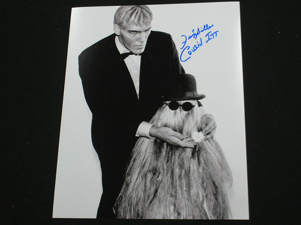 FELIX SILLA Signed 8x10 Photo COUSIN ITT Addams Family Autograph RARE B - HorrorAutographs.com