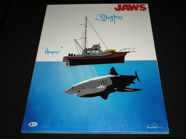 RICHARD DREYFUSS Signed ORIGINAL POP ART PAINTING Autograph JAWS BECKETT BAS COA