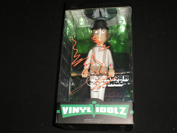 "MALCOLM McDowell Signed ALEX DELARGE VINYL IDOLZ 9"" FIGURE Clockwork Orange BAS BECKETT COA - HorrorAutographs.com"