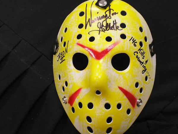 WARRINGTON GILLETTE Signed Hockey MASK 146 KILLS Jason Voorhees Autograph Friday the 13th Part 2 - HorrorAutographs.com