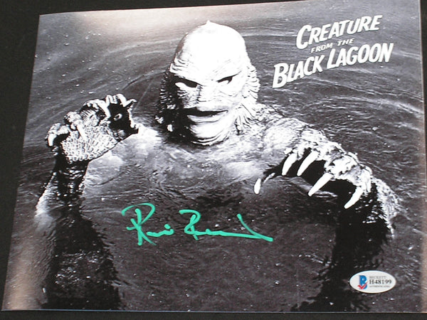 RICOU BROWNING Signed Creature from the Black Lagoon 8x10 Photo Autograph BAS BECKETT COA A - HorrorAutographs.com