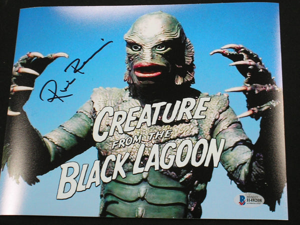 RICOU BROWNING Signed Creature from the Black Lagoon 8x10 Photo Autograph BAS BECKETT COA B - HorrorAutographs.com