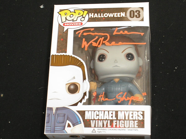 TOMMY LEE WALLACE Signed Michael Myers FUNKO POP Figure Halloween THE SHAPE - HorrorAutographs.com