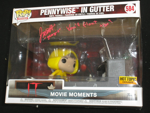 JACKSON ROBERT SCOTT Signed HOT TOPIC IT PENNYWISE GEORGIE FUNKO POP Movie Moments RARE