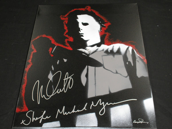 NICK CASTLE Signed Halloween Original POP ART PAINTING Autograph ELECTRIC Michael Myers The Shape