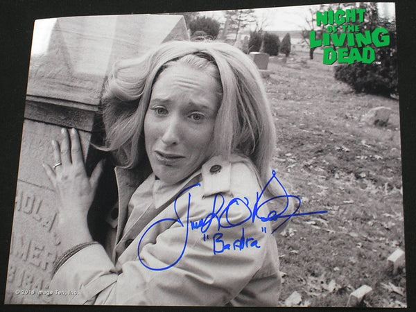 JUDITH O'DEA Signed Night of the Living Dead 8x10 Photo Barbra Autograph C - HorrorAutographs.com