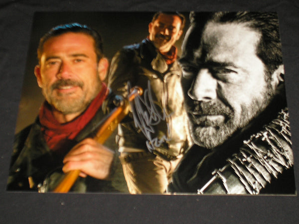 JEFFREY DEAN MORGAN Signed NEGAN Custom 10x13 Metallic Photo The Walking Dead Autograph - HorrorAutographs.com