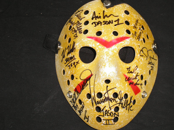 8X JASON VOORHEES Actors Cast Signed Hockey MASK Friday the 13th KANE HODDER + RARE - HorrorAutographs.com