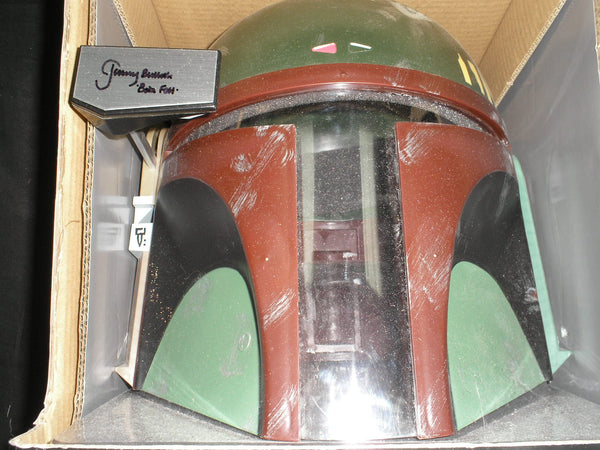JEREMY BULLOCH Signed BOBA FETT FULL SIZE HELMET STAR WARS Bounty Hunter Autograph RARE - HorrorAutographs.com