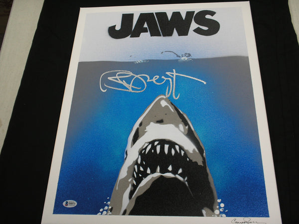 RICHARD DREYFUSS Signed ORIGINAL POP ART PAINTING Autograph JAWS BAS BECKETT COA B - HorrorAutographs.com