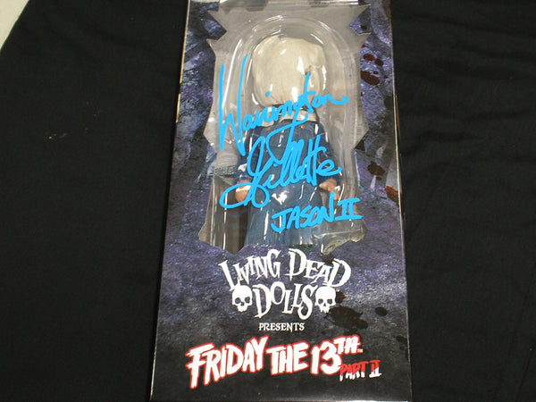 WARRINGTON GILLETTE Signed Jason Voorhees Autograph Living Dead Doll Friday the 13th Part 2 - HorrorAutographs.com